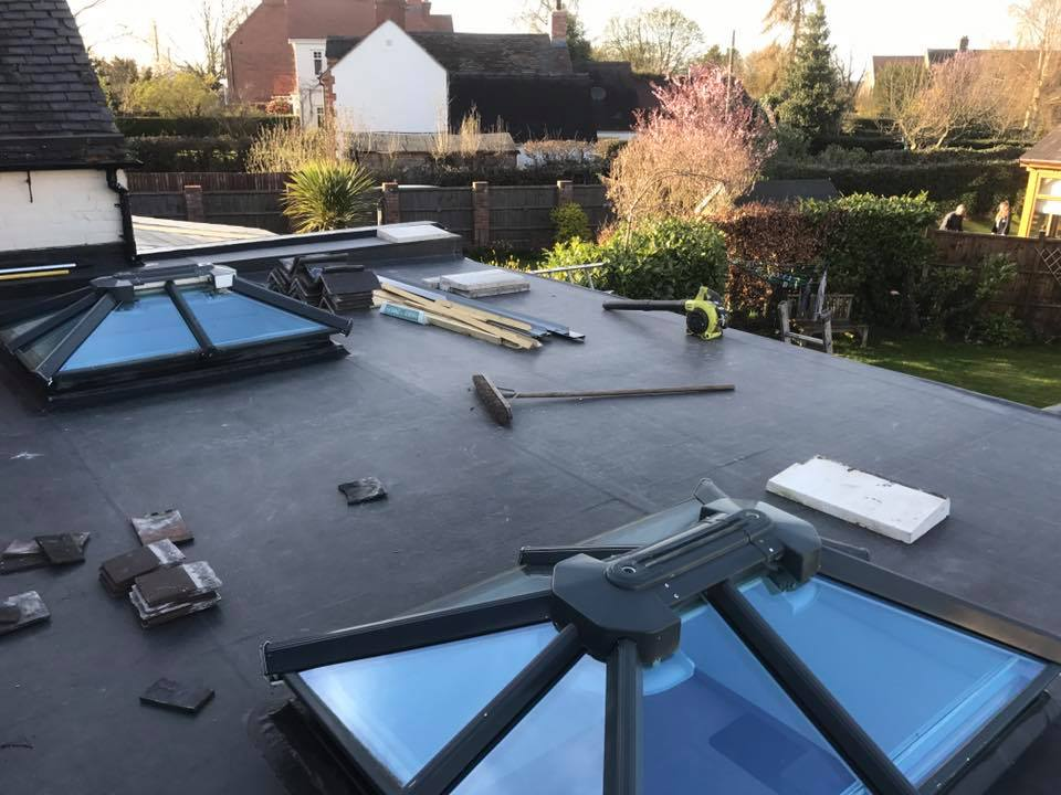 your local roofer in telford on site outside customer property